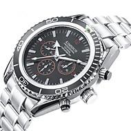 Χαμηλού Κόστους -Ανδρικά μηχανικό ρολόι Αυτόματο κούρδισμα Ανοξείδωτο Ατσάλι Ασημί 30 m Ανθεκτικό στο Νερό Ημερολόγιο Νυχτερινή λάμψη Αναλογικό Πολυτέλεια Μοντέρνα - Μαύρο Πορτοκαλί Μαύρο / Άσπρο