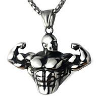 preiswerte -Damen Geometrisch Pendant Halskette Edelstahl Totem Serie Modisch Cool Gold Silber 60 cm Modische Halsketten Schmuck 1pc Für Geschenk Alltag