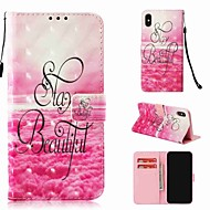 cheap -Case For Apple iPhone XR / iPhone XS Max Wallet / Card Holder / with Stand Full Body Cases Word / Phrase Hard PU Leather for iPhone XS / iPhone XR / iPhone XS Max