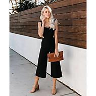 cheap -Women's Black Jumpsuit, Solid Colored M L XL