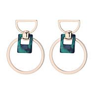 Χαμηλού Κόστους -Γυναικεία Γεωμετρική Κρεμαστά Σκουλαρίκια Σκουλαρίκι Σκουλαρίκια Στυλάτο Απλός Κορεάτικα Κοσμήματα Λευκό / Μαύρο / Πράσινο Για Καθημερινά Δρόμος Αργίες Δουλειά 1 Pair
