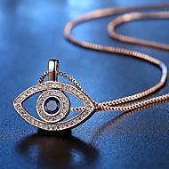 Χαμηλού Κόστους -Γυναικεία Κρεμαστά Κολιέ Προσομειωμένο διαμάντι Μάτια Απλός Χρυσό Ασημί 45 cm Κολιέ Κοσμήματα 1pc Για Καθημερινά