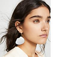 저렴한 -여성용 스터드 귀걸이 드랍 귀걸이 쉘 귀걸이 자연적 열대의 보석류 골드 제품 결혼식 파티 일상 거리 작동 1 쌍