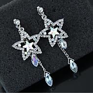 Χαμηλού Κόστους -Γυναικεία Κρεμαστά Σκουλαρίκια Προσομειωμένο διαμάντι Σκουλαρίκια Stea Κλασσικό Μοντέρνα Κοσμήματα Ασημί Για Καθημερινά 1 Pair