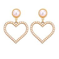 זול -בגדי ריקוד נשים קלאסי עגילי טיפה עגילים לב מסוגנן תכשיטים זהב עבור יומי חגים זוג 1