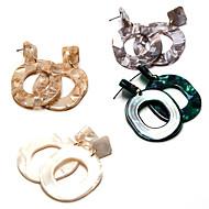preiswerte -Damen Mehrfarbig Vintage Stil Tropfen-Ohrringe Harz Ohrringe Kugel Einfach Retro Schmuck Grau / Braun / Grün Für Geschenk Strasse 1 Paar