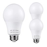 お買い得  -ZDM® 3本 5 W LEDボール型電球 450 lm E26 / E27 25 LEDビーズ SMD 2835 かわいい 温白色 クールホワイト 110-220 V / RoHs