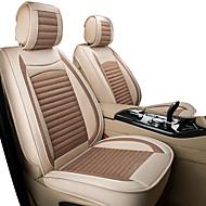 abordables -cojín del coche tela de dibujos animados todo el conjunto de asiento de lino envolvente invierno nuevo lindo seda cuatro estaciones / cinco asientos / cubierta de asiento de motores general / beige /