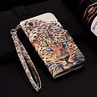 tanie -case dla apple iphone xr / iphone xs max wzór / flip / z podstawą pełne etui na lasera 3d leopard hard pu skóra dla iphone 6/6 plus / 6s / 6s plus / 7/7 plus / 8/8 plus / xs / x