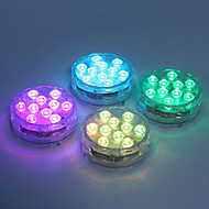 tanie -1 szt. 5 W Oświetlenie podwodne Wodoodporny / Zdalnie sterowany / Przygaszanie Zmiana 1.2 V Nadaje się do wazonów i akwariów 10 Koraliki LED