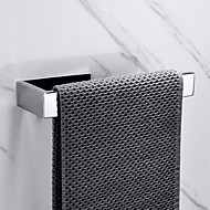 رخيصةأون -قضيب المنشفة تصميم جديد / اللصق التلقي / خلاق معاصر / تقليدي ستانلس ستيل / الفولاذ المقاوم للصدأ / الحديد 1PC - حمام خاتم منشفة مثبت على الحائط