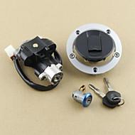 billige -tændingslåse brændstofgas kasket sædlås nøgle indstillet til suzuki gsxr600 750 1000 03-15