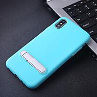 tanie -etui na jabłko iphone 8 plus / iphone 8 / iphone x ze stojakiem / odporna na wstrząsy tylna pokrywa jednolite kolorowe miękkie tpu na iphone 8 / iphone 8 plus / iphone x