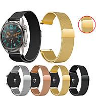 billige -Klokkerem til Huawei Watch GT / Watch 2 Pro Huawei Sportsrem / Milanesisk rem Metall / Rustfritt stål Håndleddsrem