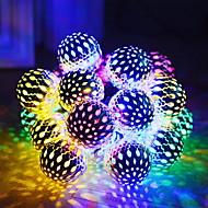 billige -5 m Lysslynger 20 LED Multifarget Solar / Dekorativ Soldrevet 1set