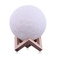 billige -1pc MOON / Globe Natlys / Dekorations Lys / 3D natlys Hvid / Gul Usb Kreativ / Dæmpbar / Dekorativ