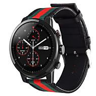 billige -Klokkerem til Huami Amazfit Pace Watch / Huami Amazfit Stratos Smart Watch 2/2S Xiaomi Sportsrem Nylon / Ekte lær Håndleddsrem