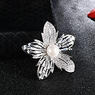 halpa -Naisten Cubic Zirkonia Rintaneulat Helmi Flower Rintaneula Korut Hopea Käyttötarkoitus Joulu Häät Lahja Päivittäin Katu