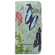 preiswerte -Hülle Für Apple iPhone X / iPhone XS Kreditkartenfächer / Flipbare Hülle Ganzkörper-Gehäuse Solide / Schmetterling / Blume Hart PU-Leder für iPhone XS / iPhone X / iPhone 8 Plus