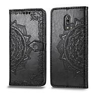 preiswerte -Hülle Für OnePlus One Plus 6T Kreditkartenfächer / Flipbare Hülle Ganzkörper-Gehäuse Solide Hart PU-Leder für One Plus 6T
