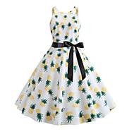 Women's Street chic Swing Dress - Fruit Print White L XL XXL