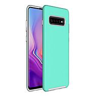 abordables -Coque Pour Samsung Galaxy Galaxy S10 / Galaxy S10 Plus Antichoc / Etanche à la Poussière Coque Couleur Pleine Dur TPU pour S9 / S9 Plus / S8 Plus