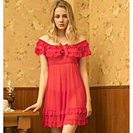 cheap -Women's Gartered Lingerie Nightwear - Lace Solid Colored