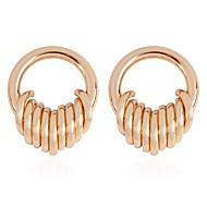 billige -Dame To-tonet Store øreringe Øreringe Simple Europæisk Mode Moderne Smykker Guld Til Daglig Gade Arbejde Festival 1 Par