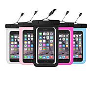 ieftine -Maska Pentru Apple Παγκόσμιο Rezistent la apă / Rezistent la Apă / Transparent Sacoșă Impermeabilă Transparent Moale PVC pentru Παγκόσμιο