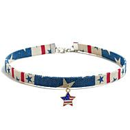 levne -Dámské Obojkové náhrdelníky americká vlajka Vlajka Evropský Moderní Módní Látka Chrome Duhová 30+5 cm Náhrdelníky Šperky 1ks Pro Denní Street Festival