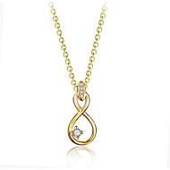 levne -Dámské Kubický zirkon Náhrdelníky s přívěšky Geometrické Radost Módní Měď Zlatá 45+6 cm Náhrdelníky Šperky 1ks Pro Dar Denní