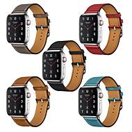 billiga -Klockarmband för Apple Watch Series 4/3/2/1 Apple Klassiskt spänne Äkta Läder Handledsrem