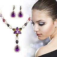 tanie -Damskie Syntetyczny akwamaryn Klasyczny Biżuteria Ustaw Błogosławiony Klasyczny Zawierać Zestawy biżuterii ślubnej Złoty Na Ślub Impreza