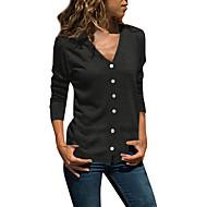billige -Skjorte Dame - Ensfarget Grunnleggende Mørkegrå US14