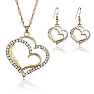voordelige -Dames Zilver Goud meetkundig Sieraden set Hart modieus omvatten Hangertjes ketting Goud / Zilver Voor Feestdagen
