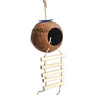 abordables -Pájaro Perchas y Escaleras Madera Amigable con las Mascotas / Juguete del foco / Juguetes de felpa y tela 8*22 cm