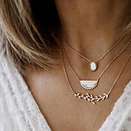 cheap -Women's Necklace Layered Necklace Chrome Gold 46 cm Necklace Jewelry 1pc For Daily School Street Holiday Festival