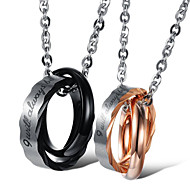 cheap -Men's Women's Pendant Necklace Classic Blessed Fashion Titanium Steel Black Rose Gold 50 cm Necklace Jewelry 1pc For Daily Promise