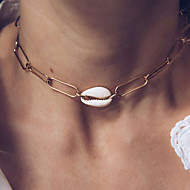 cheap -Women's Necklace Chrome Shell Gold 42 cm Necklace Jewelry 1pc For Daily School Street Holiday Festival