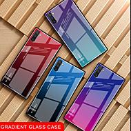 povoljno -Θήκη Za Samsung Galaxy Samsung Note 10 / Galaxy Note 10 Plus Otporno na trešnju / Ultra tanko Stražnja maska Prijelaz boje Kaljeno staklo