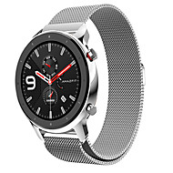 cheap -20/22mm Luxury Magnetic Loop Wrist Strap Metal Wristband For Huami Amazfit GTR 42mm/47mm