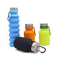 ieftine -ceașcă 550 ml silicagel Portabil Pliabil pentru Camping Camping / Cățărare / Speologie Drum de țară Negru Maro Verde Albastru