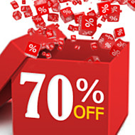 70% OFF & Up