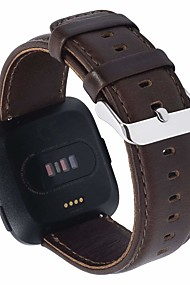 tanie -Watch Band na Fitbit Versa Fitbit Klasyczna klamra Prawdziwa skóra Opaska na nadgarstek