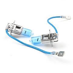 cheap HID & Halogen Lights-H3 55W 6500K Ultra White Car Light Bulbs (DC 12V/Pair)