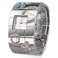 お買い得  レディース腕時計-女性用 リストウォッチ 日本産 クォーツ カジュアルウォッチ ステンレス バンド ぜいたく 花型 ボヘミアンスタイル シルバー - シルバー 1年間 電池寿命 / SSUO SR626SW