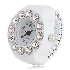 preiswerte Damenuhren-Damen Ringuhr Japanisch Imitation Diamant Plastic Band Charme / Modisch Schwarz / Weiß / Rosa