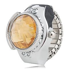 preiswerte Damenuhren-Damen Quartz Ringuhr Japanisch Armbanduhren für den Alltag Legierung Band Blume Silber