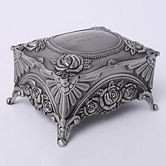 personlig vintage tutania rektangel delikat smykkeskrin elegant stil