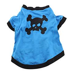 お買い得  犬用ウェア&アクセサリー-犬 コスチューム Tシャツ セット 犬用ウェア スカル 動物 ブルー コットン コスチューム ペット用 コスプレ ハロウィーン